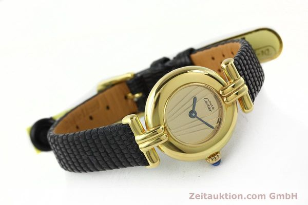 Used luxury watch Cartier Vermeil silver-gilt quartz Kal. 690  | 141797 03