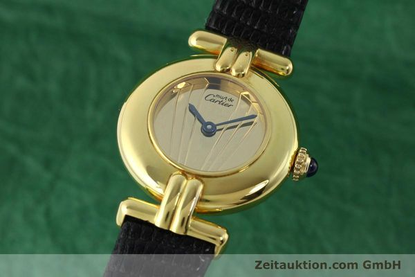 Used luxury watch Cartier Vermeil silver-gilt quartz Kal. 690  | 141797 04