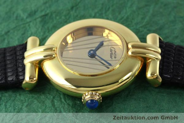 Used luxury watch Cartier Vermeil silver-gilt quartz Kal. 690  | 141797 05