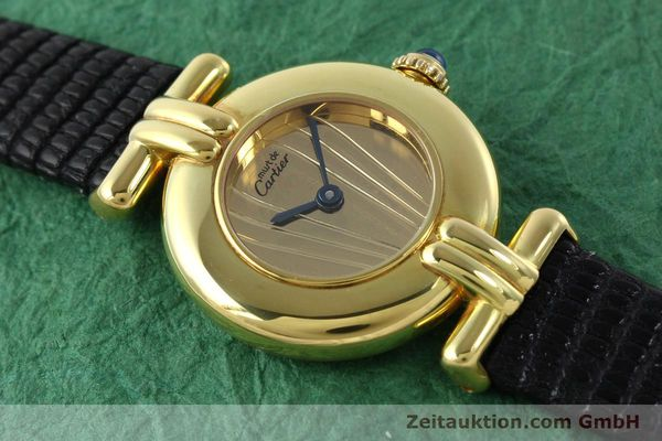 Used luxury watch Cartier Vermeil silver-gilt quartz Kal. 690  | 141797 11