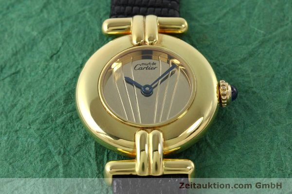 Used luxury watch Cartier Vermeil silver-gilt quartz Kal. 690  | 141797 12