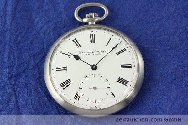Used luxury watch IWC Taschenuhr steel manual winding Kal. C.972 Ref. 5301  | 141799 15