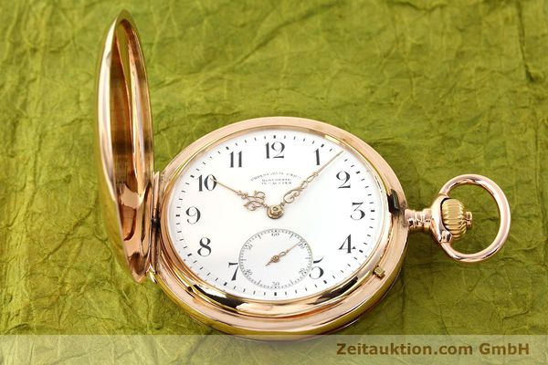 montre de luxe d occasion Union Glashütte * or rouge 14 ct remontage manuel  | 141800 15