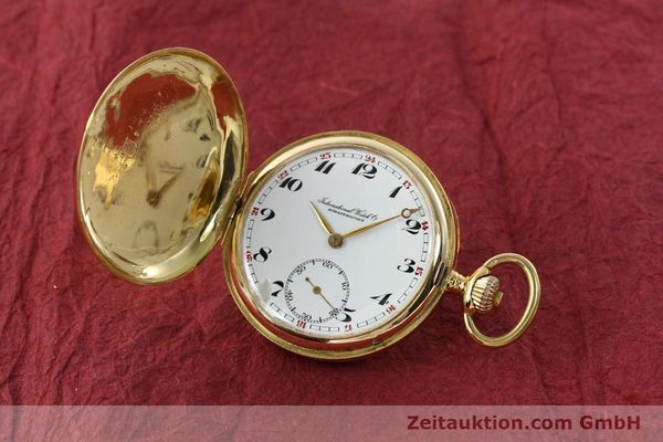 Used luxury watch IWC Taschenuhr 14 ct yellow gold manual winding Kal. H6  | 141804 04