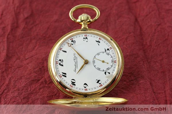 Used luxury watch IWC Taschenuhr 14 ct yellow gold manual winding Kal. H6  | 141804 05