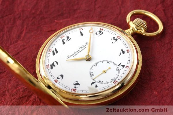 Used luxury watch IWC Taschenuhr 14 ct yellow gold manual winding Kal. H6  | 141804 15