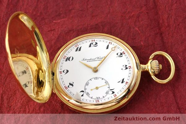 Used luxury watch IWC Taschenuhr 14 ct yellow gold manual winding Kal. H6  | 141804 16