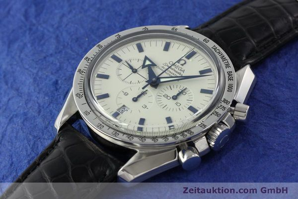 Used luxury watch Omega Speedmaster chronograph steel automatic Kal. 3303A  | 141805 01