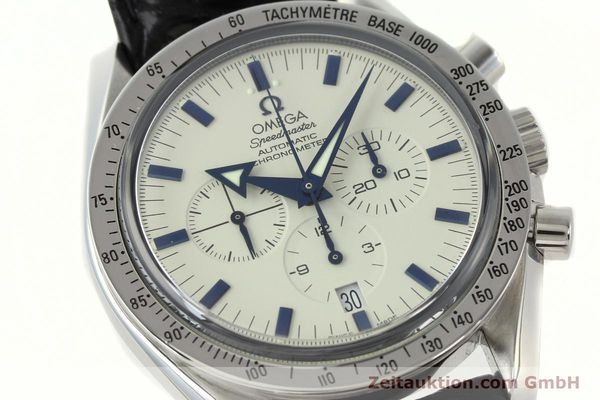 Used luxury watch Omega Speedmaster chronograph steel automatic Kal. 3303A  | 141805 02