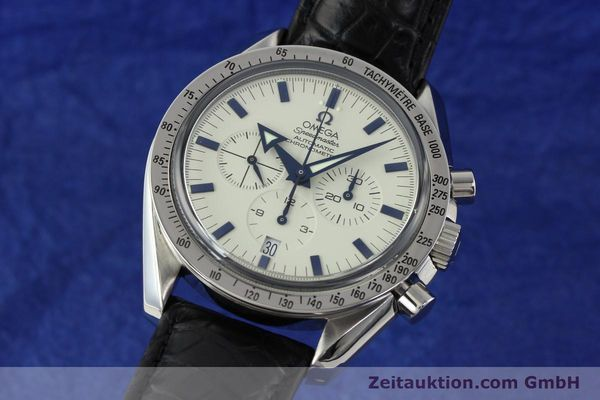 Used luxury watch Omega Speedmaster chronograph steel automatic Kal. 3303A  | 141805 04