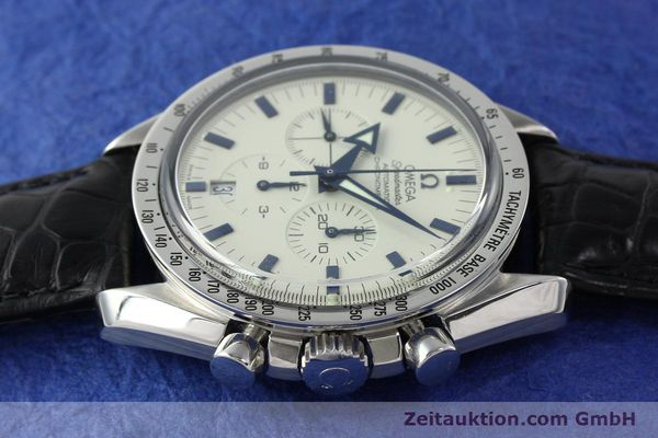 Used luxury watch Omega Speedmaster chronograph steel automatic Kal. 3303A  | 141805 05