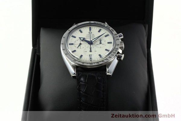 Used luxury watch Omega Speedmaster chronograph steel automatic Kal. 3303A  | 141805 07