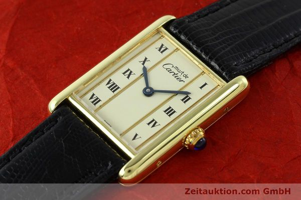 Used luxury watch Cartier Tank silver-gilt quartz Kal. 90  | 141813 01