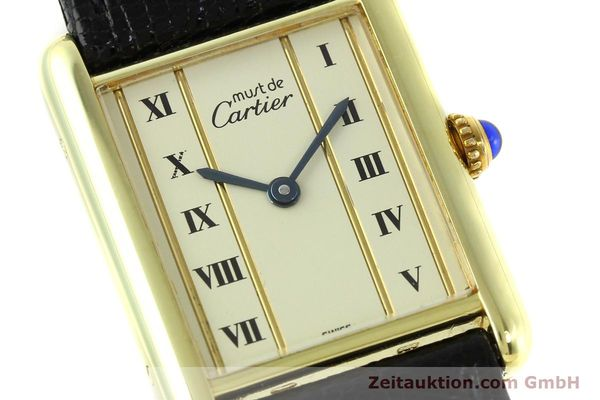 Used luxury watch Cartier Tank silver-gilt quartz Kal. 90  | 141813 02