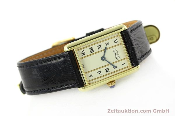 Used luxury watch Cartier Tank silver-gilt quartz Kal. 90  | 141813 03