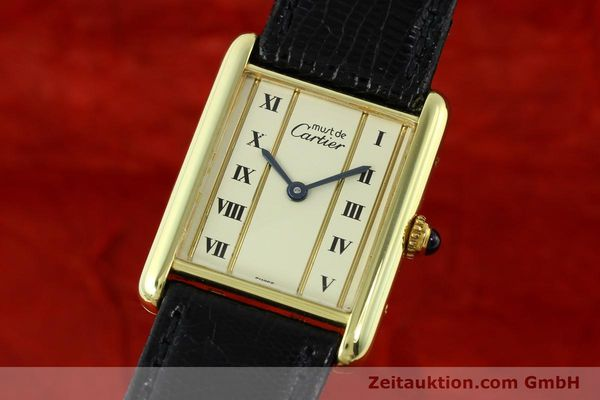 Used luxury watch Cartier Tank silver-gilt quartz Kal. 90  | 141813 04