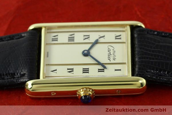 Used luxury watch Cartier Tank silver-gilt quartz Kal. 90  | 141813 05