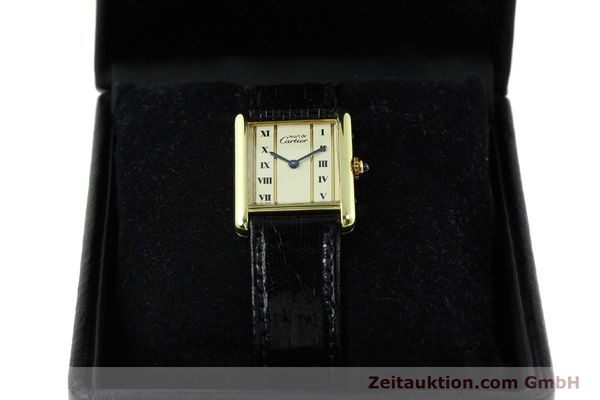 Used luxury watch Cartier Tank silver-gilt quartz Kal. 90  | 141813 07