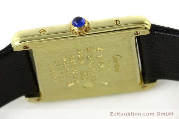 Used luxury watch Cartier Tank silver-gilt quartz Kal. 90  | 141813 08