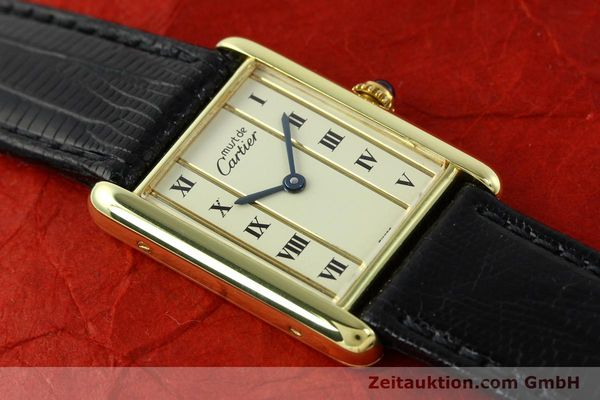 Used luxury watch Cartier Tank silver-gilt quartz Kal. 90  | 141813 11