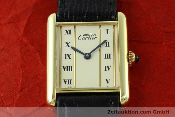 Used luxury watch Cartier Tank silver-gilt quartz Kal. 90  | 141813 12