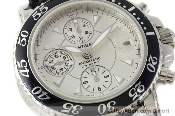 Used luxury watch Montblanc Sport Chronograph chronograph steel automatic Kal. 4810501 ETA 7750 Ref. 7034  | 141816 02