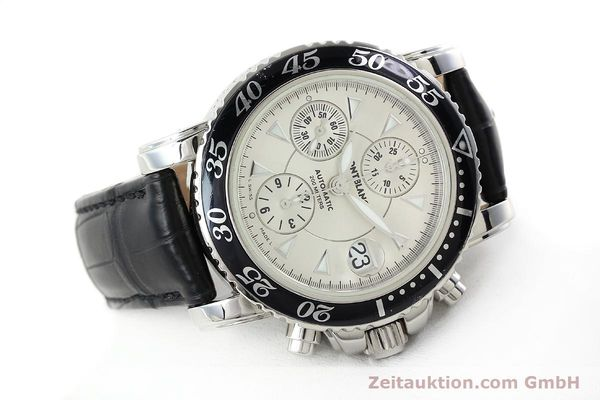 Used luxury watch Montblanc Sport Chronograph chronograph steel automatic Kal. 4810501 ETA 7750 Ref. 7034  | 141816 03