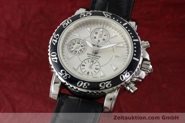Used luxury watch Montblanc Sport Chronograph chronograph steel automatic Kal. 4810501 ETA 7750 Ref. 7034  | 141816 04