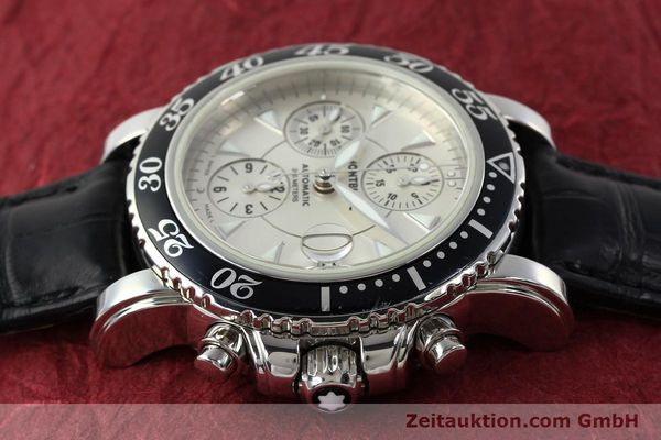 Used luxury watch Montblanc Sport Chronograph chronograph steel automatic Kal. 4810501 ETA 7750 Ref. 7034  | 141816 05