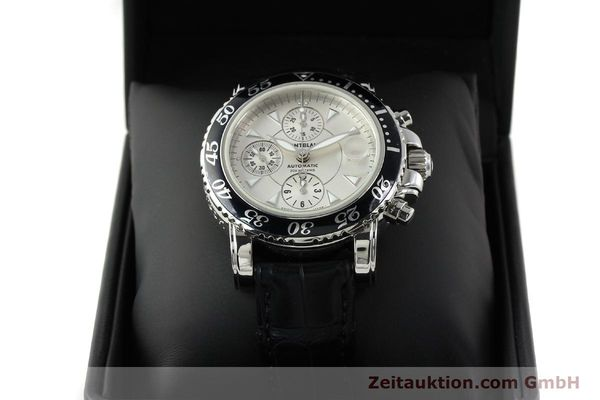 Used luxury watch Montblanc Sport Chronograph chronograph steel automatic Kal. 4810501 ETA 7750 Ref. 7034  | 141816 07