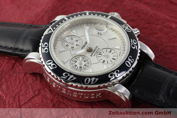 Used luxury watch Montblanc Sport Chronograph chronograph steel automatic Kal. 4810501 ETA 7750 Ref. 7034  | 141816 14