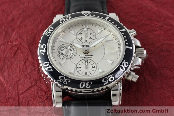 Used luxury watch Montblanc Sport Chronograph chronograph steel automatic Kal. 4810501 ETA 7750 Ref. 7034  | 141816 15