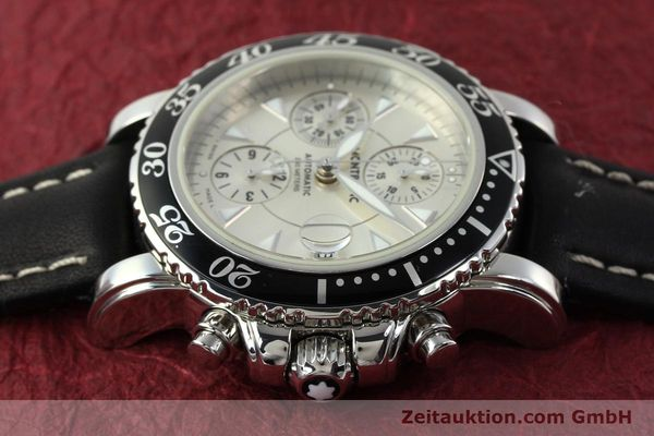 Used luxury watch Montblanc Sport Chronograph steel automatic Ref. 7034  | 141817 05