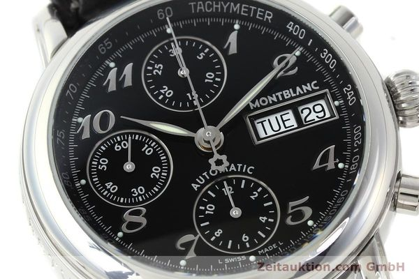 Used luxury watch Montblanc Meisterstück chronograph steel automatic Kal. 4810501 ETA 7750 Ref. 7016  | 141818 02