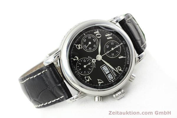 Used luxury watch Montblanc Meisterstück chronograph steel automatic Kal. 4810501 ETA 7750 Ref. 7016  | 141818 03