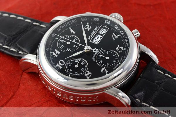 Used luxury watch Montblanc Meisterstück chronograph steel automatic Kal. 4810501 ETA 7750 Ref. 7016  | 141818 15