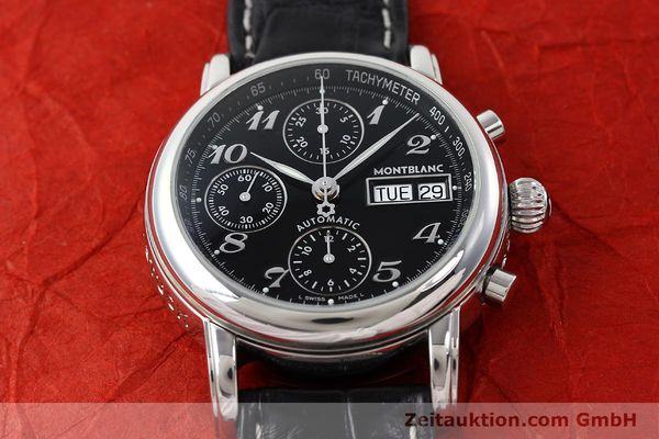Used luxury watch Montblanc Meisterstück chronograph steel automatic Kal. 4810501 ETA 7750 Ref. 7016  | 141818 16