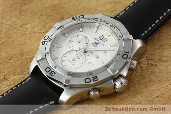 Used luxury watch Tag Heuer Aquaracer chronograph steel automatic Ref. CAF101F  | 141819 01