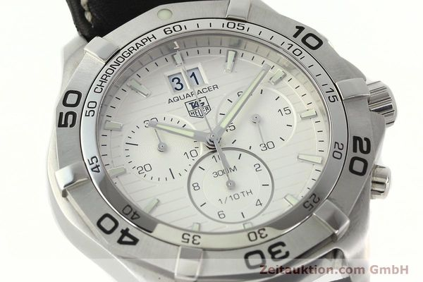Used luxury watch Tag Heuer Aquaracer chronograph steel automatic Ref. CAF101F  | 141819 02
