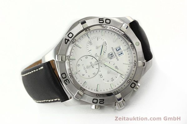 Used luxury watch Tag Heuer Aquaracer chronograph steel automatic Ref. CAF101F  | 141819 03
