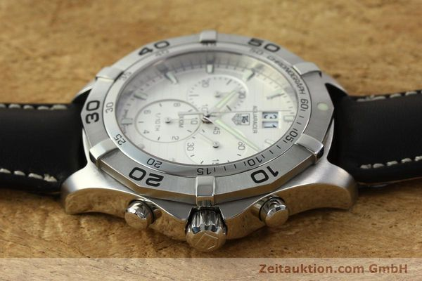 Used luxury watch Tag Heuer Aquaracer chronograph steel automatic Ref. CAF101F  | 141819 05