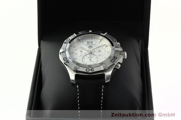 Used luxury watch Tag Heuer Aquaracer chronograph steel automatic Ref. CAF101F  | 141819 07