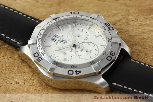 Used luxury watch Tag Heuer Aquaracer chronograph steel automatic Ref. CAF101F  | 141819 12
