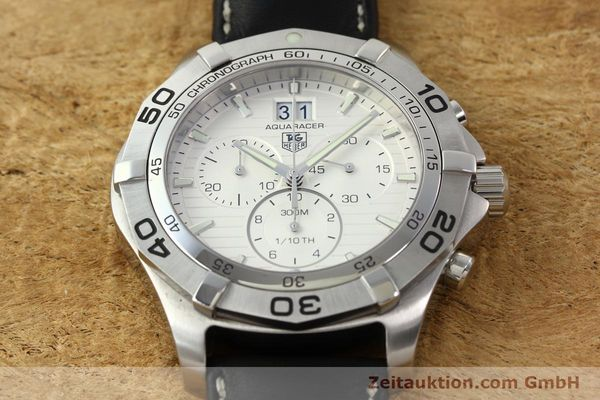 Used luxury watch Tag Heuer Aquaracer chronograph steel automatic Ref. CAF101F  | 141819 13