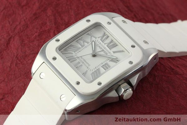 Used luxury watch Cartier Santos 100 steel automatic Kal. 076 ETA 2671  | 141836 01