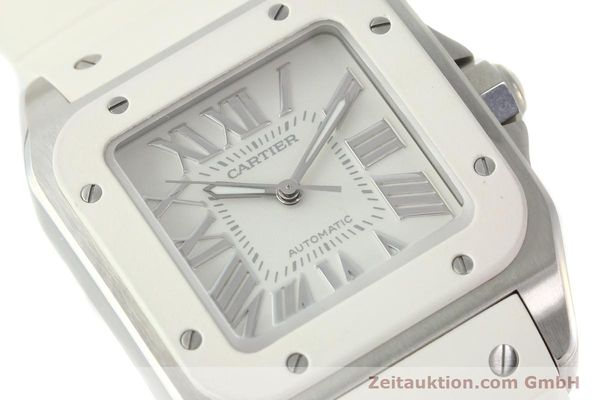Used luxury watch Cartier Santos 100 steel automatic Kal. 076 ETA 2671  | 141836 02