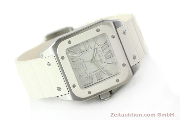 Used luxury watch Cartier Santos 100 steel automatic Kal. 076 ETA 2671  | 141836 03
