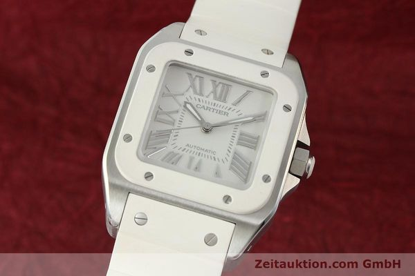 Used luxury watch Cartier Santos 100 steel automatic Kal. 076 ETA 2671  | 141836 04
