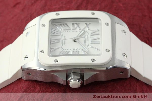 Used luxury watch Cartier Santos 100 steel automatic Kal. 076 ETA 2671  | 141836 05