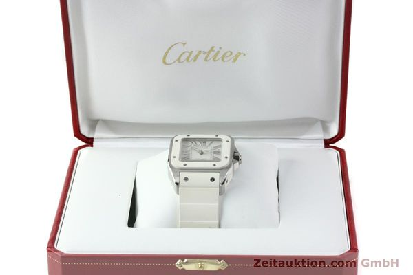 Used luxury watch Cartier Santos 100 steel automatic Kal. 076 ETA 2671  | 141836 07